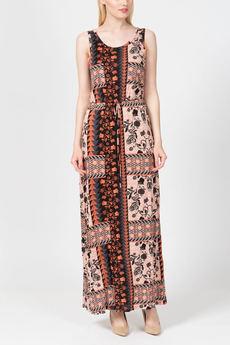 Длинное летнее платье с поясом кулиска TOM FARR со скидкой