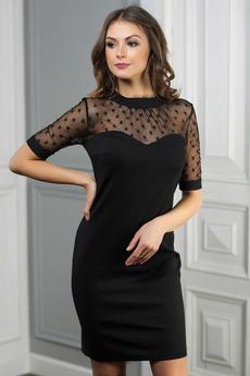 Черное коктейльное платье Look Russian